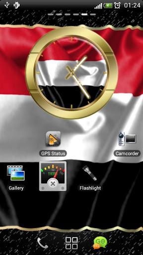 Yemen flag clocks