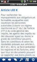Screenshot of French Book of Tax Procedures