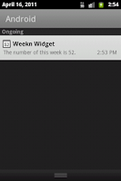 Screenshot of Weekn widget