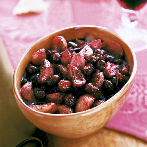 Cranberry Sauce with Roasted Shallots and Port