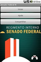 Screenshot of Regimento Senado Federal