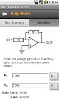 Screenshot of Electronics Toolkit Pro