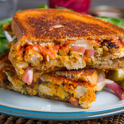 Moroccan Chicken Manchego Melt