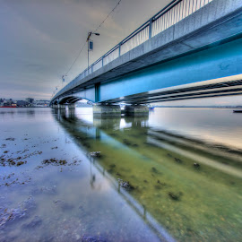 Wexford Bridge Ireland by Myles Lambert - Buildings & Architecture Bridges & Suspended Structures ( #hdrbridgesunsetireland, #wexfordbridge, #irishsunset, #irishstructure, #wexfordbridgeireland )