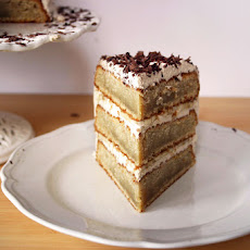 Coffee and Banana Triple Layer Cake