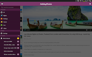 Screenshot of HolidayPirates