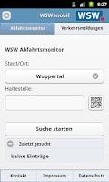 Screenshot of WSW Abfahrtsmonitor