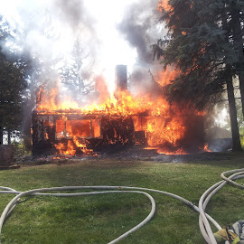 Fire sale by Jay Anderson - News & Events Disasters ( house fire, brun, hot, house, fire,  )