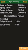 Screenshot of Tank Mix Calculator