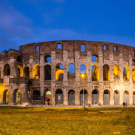 Colosseum by Michael Strier - Buildings & Architecture Public & Historical ( colosseum, rome, long exposure, night, italy )