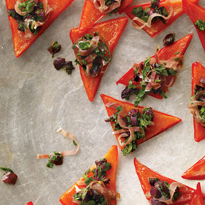 Red Pepper Triangles with Italian Relish