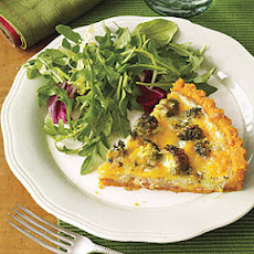 Broccoli-Sweet Onion-Cheese Tart