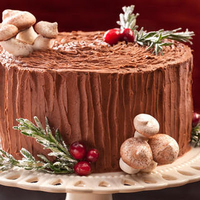 Black Forest Yule Stump Cake