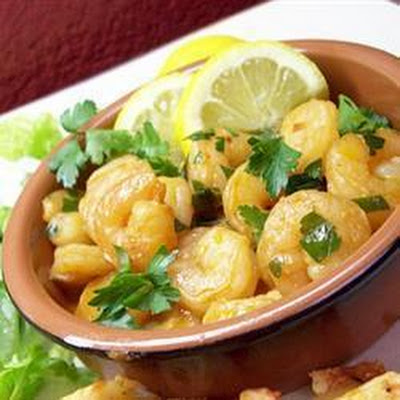 Spanish Prawns With Sherry And Garlic