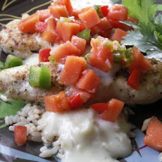 Viv's Pina Colada Chicken With Salsa