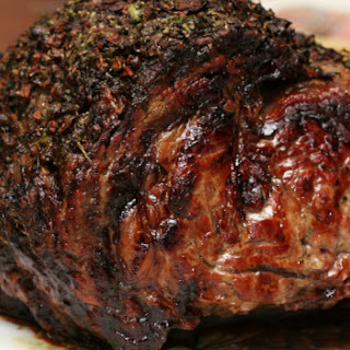 Grill-Roasted Herb-Crusted Standing Rib Roast Recipe ...