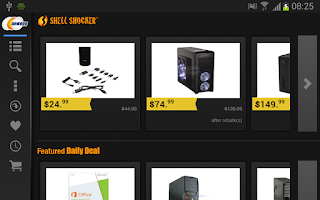 Screenshot of Newegg for Google TV