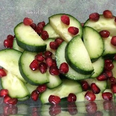 Pickeled Pomegranate and Cucumber Salad