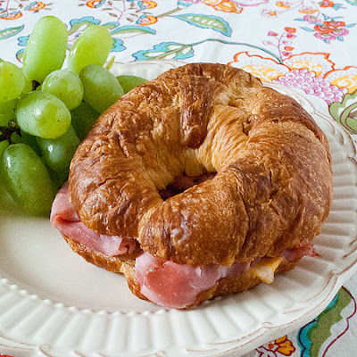 Baked Ham and Cheese Croissants
