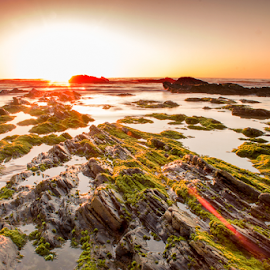 sunset by Jose Moreira - Landscapes Beaches ( zambujeira, sunset, alteirinhos, beach, portugal )