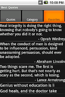 Screenshot of Best Quotes