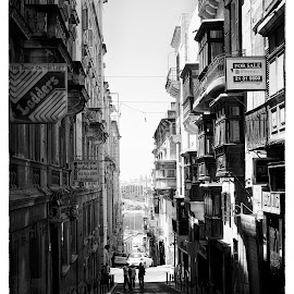 Valletta by Lino Chetcuti - City,  Street & Park  Street Scenes