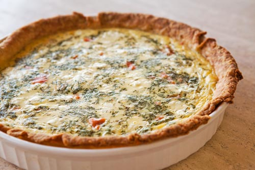 Smoked Salmon, Dill, and Goat Cheese Quiche Recipe | Yummly