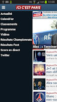 Screenshot of Paris Foot Mercato