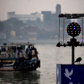At Chandpal Ghat, Kolkata by Saptarsi Roy - Digital Art Places
