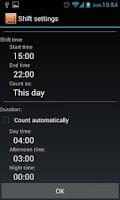 Screenshot of Shift Schedule + Alarm Clock