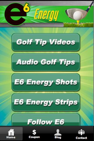 E6 Energy Golf Tips