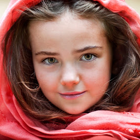 Little Red Riding Hood by Melissa Papaj - Babies & Children Child Portraits ( fantasy, child, model, girl, fairy tale, red riding hood, female, magical, scarf )
