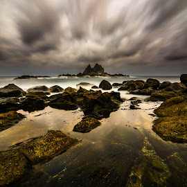 the last  by Ade Rizal - Landscapes Travel ( sunset, cloud, travel, lombok, rocks )