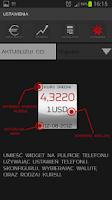 Screenshot of Kurs walut