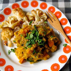 Curried Lentil Stew with Celeriac and Squash