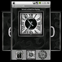 Silver Alarm Clock Widget icon