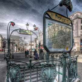 pigalle by Ben Hodges - City,  Street & Park  Historic Districts ( paris, hdr, pigalle, montmartre, metro, france )