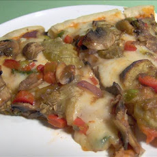 Grilled Eggplant Pizza(Vegetarian)