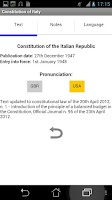 Screenshot of Italian Constitution