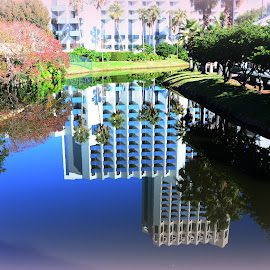 Hotel Reflections by Lorraine D.  Heaney - Buildings & Architecture Office Buildings & Hotels