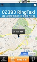 Screenshot of RingTaxi Norge