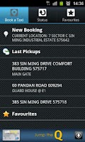 Screenshot of ComfortDelGro Taxi Booking