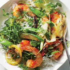 Harissa Shrimp And Summer Vegetable Sauté