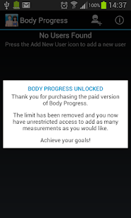 Body Progress Unlocker - screenshot