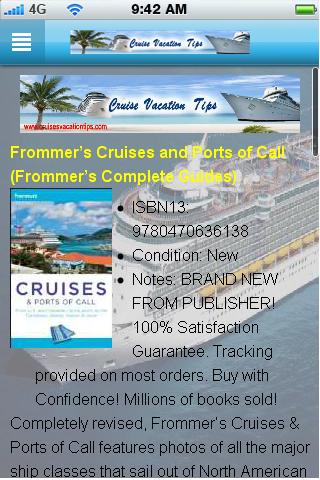 Cruise Vacation Tips App