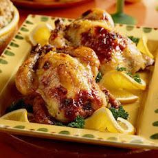 Orange-Glazed Cornish Hens