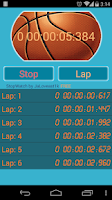 Screenshot of Stopwatch, countdown