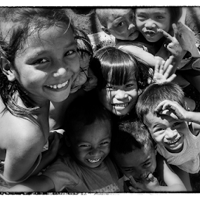 Streets from down the block by Ferdinand Ludo - Black & White Street & Candid ( happy get together sunday, kids, street kids,  )