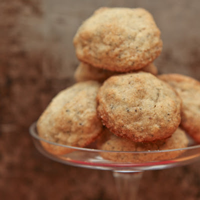 Caramelized Cornflake Lemon Poppyseed Cookies, gluten free