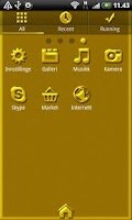 Screenshot of Golden GO Launcher EX Theme